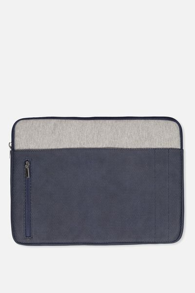 "Take Charge Laptop Cover 15"", NAVY & GREY"