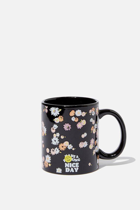 Anytime Mug, LEAVE ME ALONE FLORAL