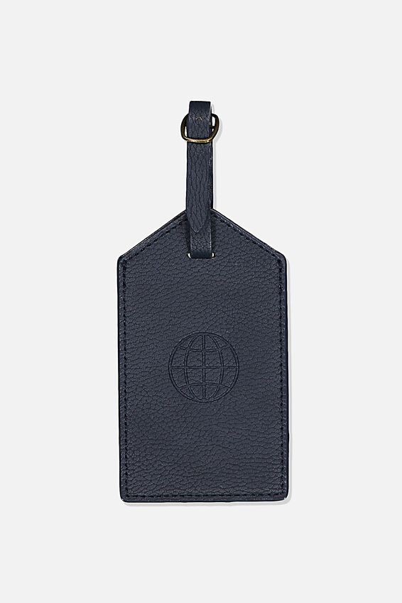 Luggage Tag, NAVY GLOBE