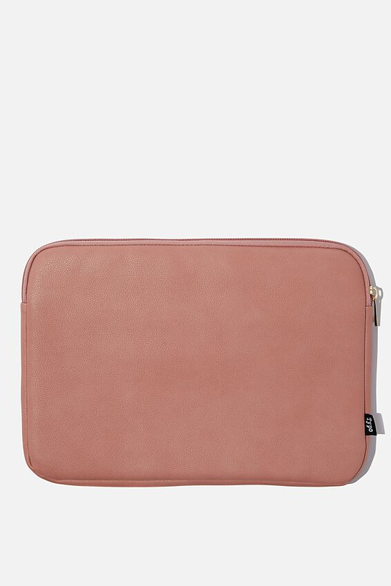 Personalised Take Charge 13 Inch Laptop Cover, DUSTY PINK
