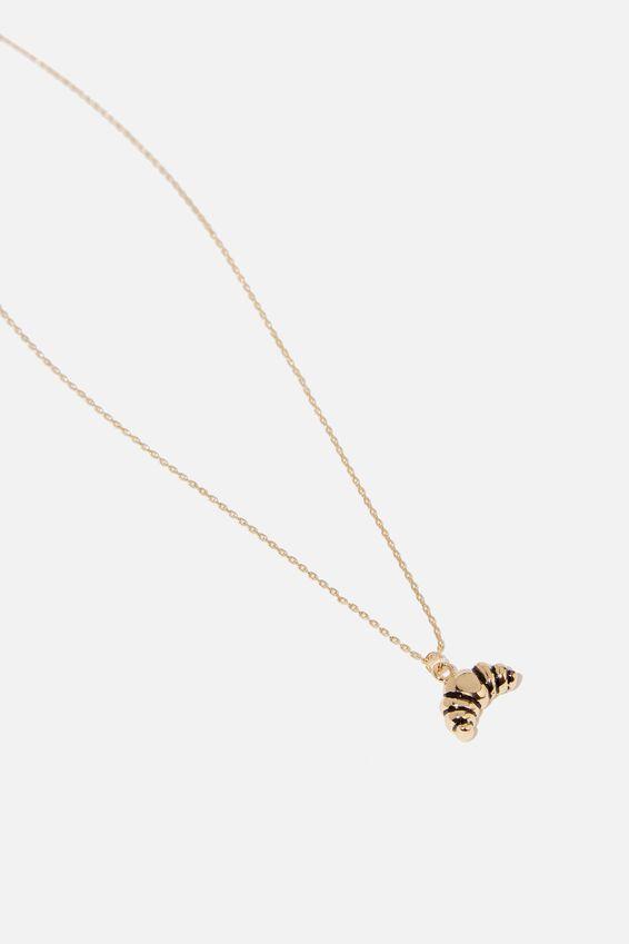 Novelty Necklace, CROISSANT