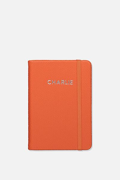 Personalised A6 Buffalo Journal, CORAL
