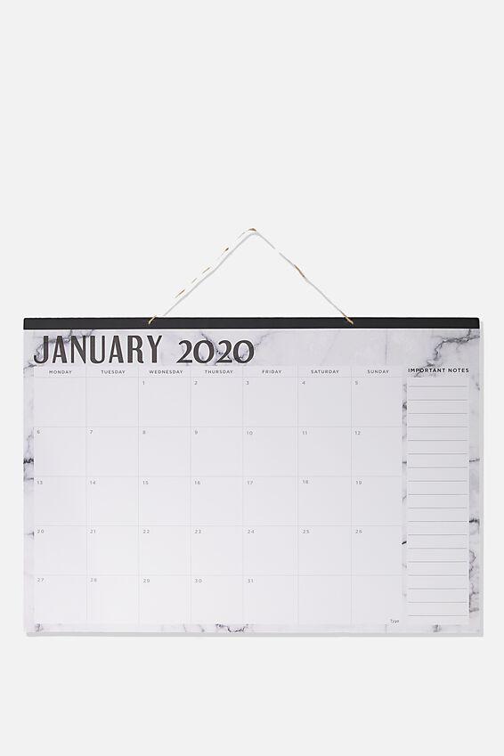 2020 A1 Hanging Calendar, MARBLE