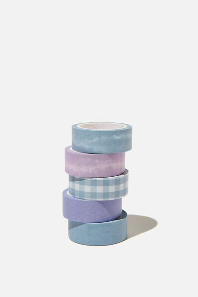 Washi Tape 5Pk, GINGHAM PALE LILAC