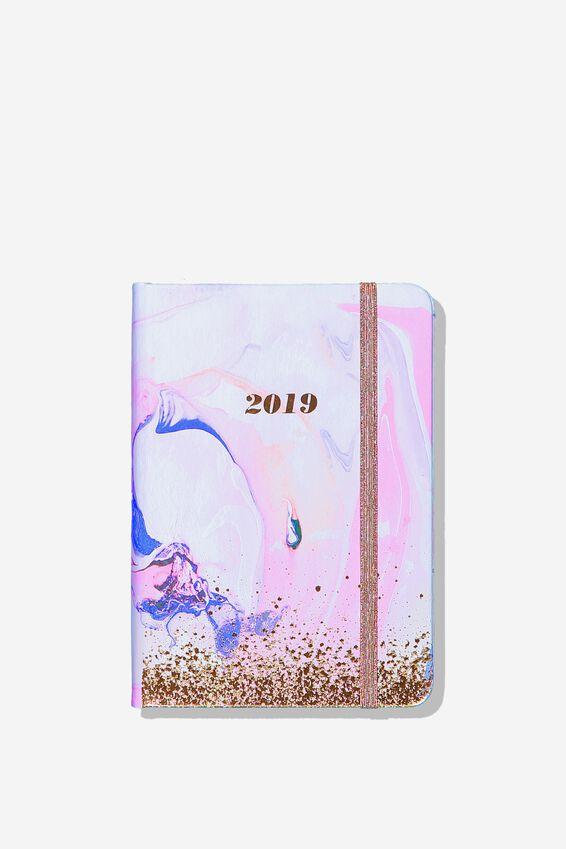 2019 A6 Daily Buffalo Diary, PINK WATERCOLOUR