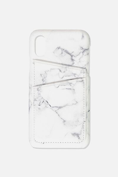 Cardholder Phone Case Iphone X,Xs, MARBLE