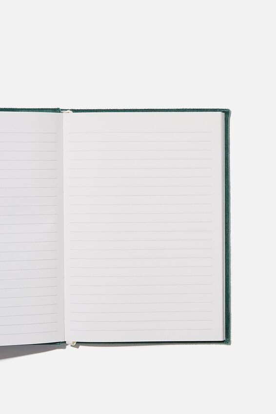 A5 Oxford Notebook, DEEP GREEN CORD