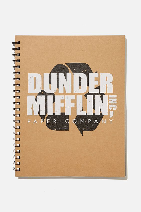 A4 The Office Campus Notebook Recycled, LCN UNI DUNDER MIFFLIN OFFICE