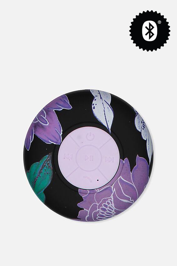 Waterproof Bluetooth Shower Speaker, LUSH FLORAL