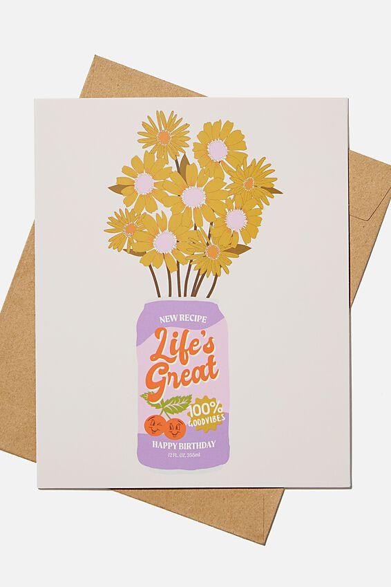 Nice Birthday Card, FLOWER CAN BIRTHDAY