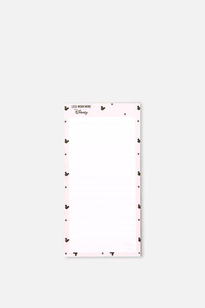 Make A List Note Pad, LCN MICKEY HEAD