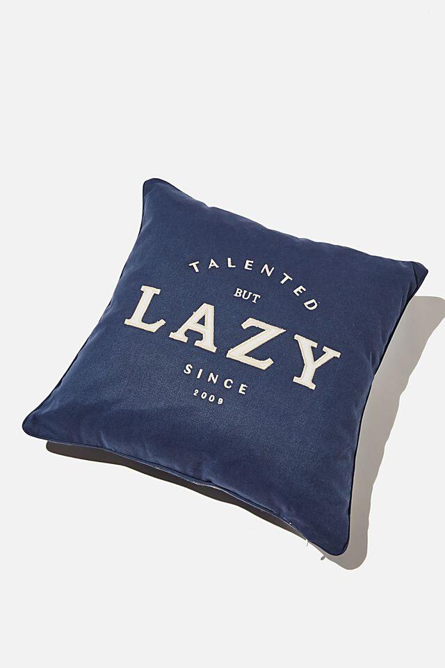 Square Cushion, TARTAN LAZY