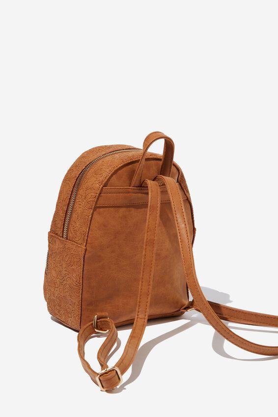 Sunset Mini Backpack, MID TAN TOOLED