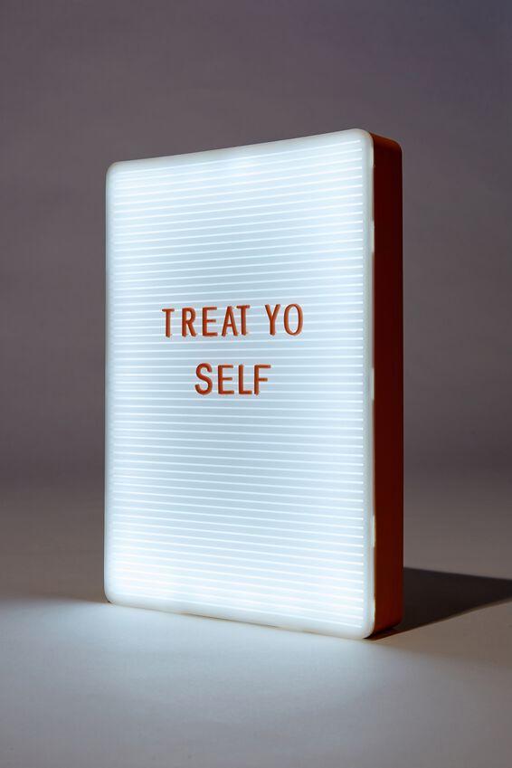 Peg Board Light Box, MUSTARD & PEACH