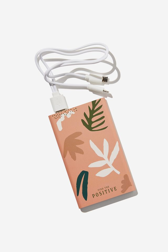 Printed Charge It Charger, ABSTRACT FOLIAGE