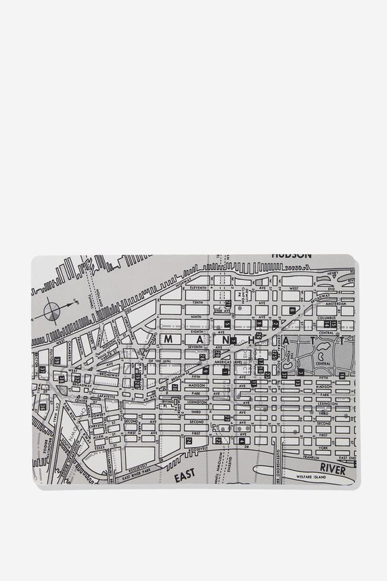 A2 Jumbo Mouse Pad, NY MAP