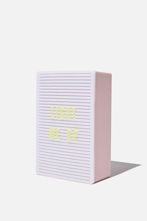 Micro Light Box, HEATHER & MENTHE