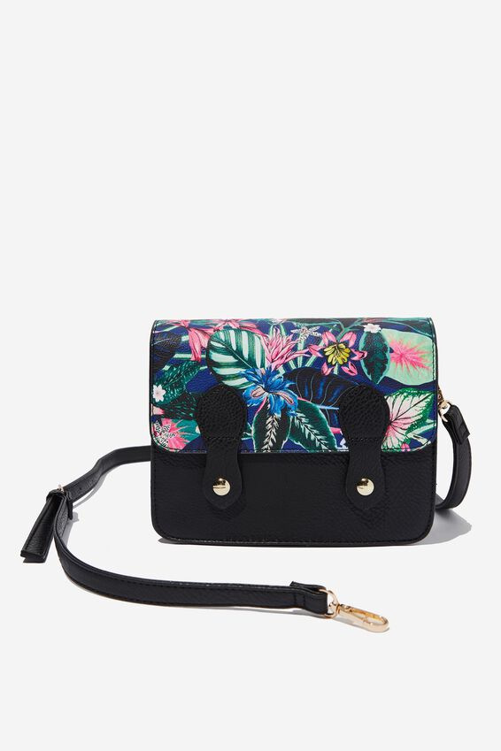 Mini Buffalo Satchel Bag, RESORT FLORAL