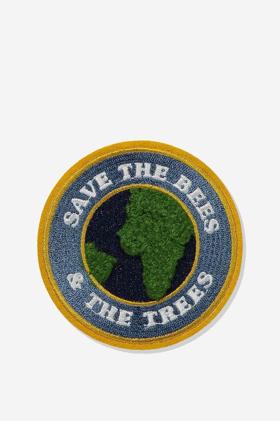 Fabric Badge, SAVE THE BEES