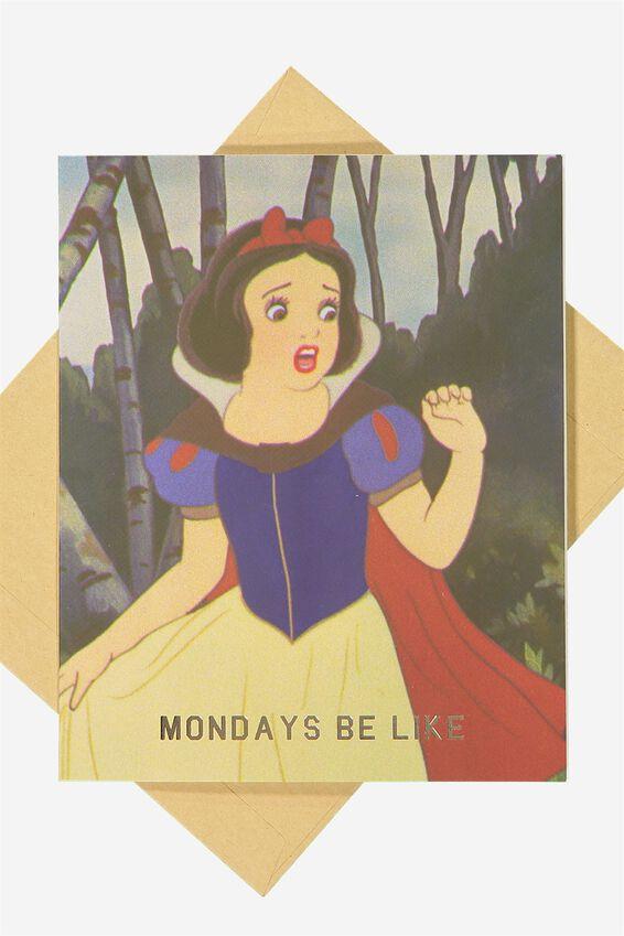 Blank Card, LCN DISNEY MONDAYS BE LIKE