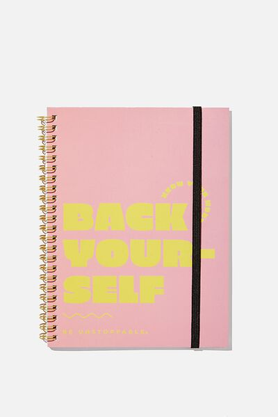 Small Spinout Notebook, BACK YOURSELF