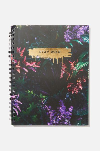 A4 Campus Notebook, STAY WILD