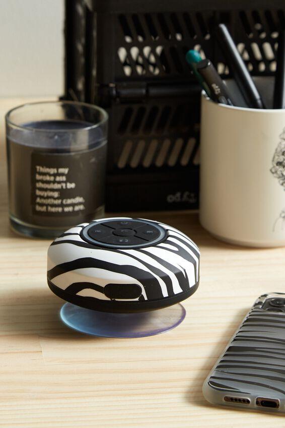 Wireless Led Shower Speaker, ABSTRACT ZEBRA 2.0