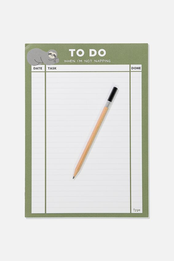 Large Plan Ahead Planner, SLOTH TO DO