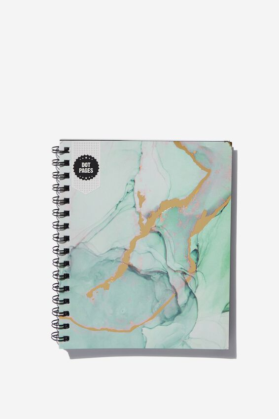A5 Campus Notebook Dot Internal, GREEN MARBLE