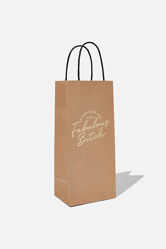 Bottle Gift Bag, FABULOUS BITCH
