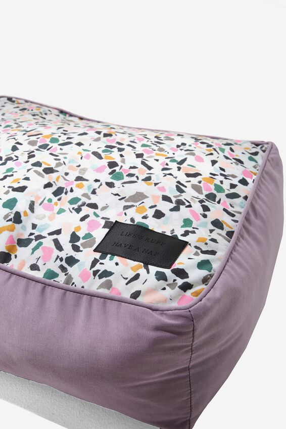 Small Printed Pet Bed, TERRAZZO