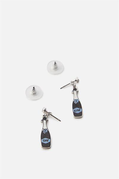 Premium Novelty Earrings, CHAMPAGNE BOTTLES!