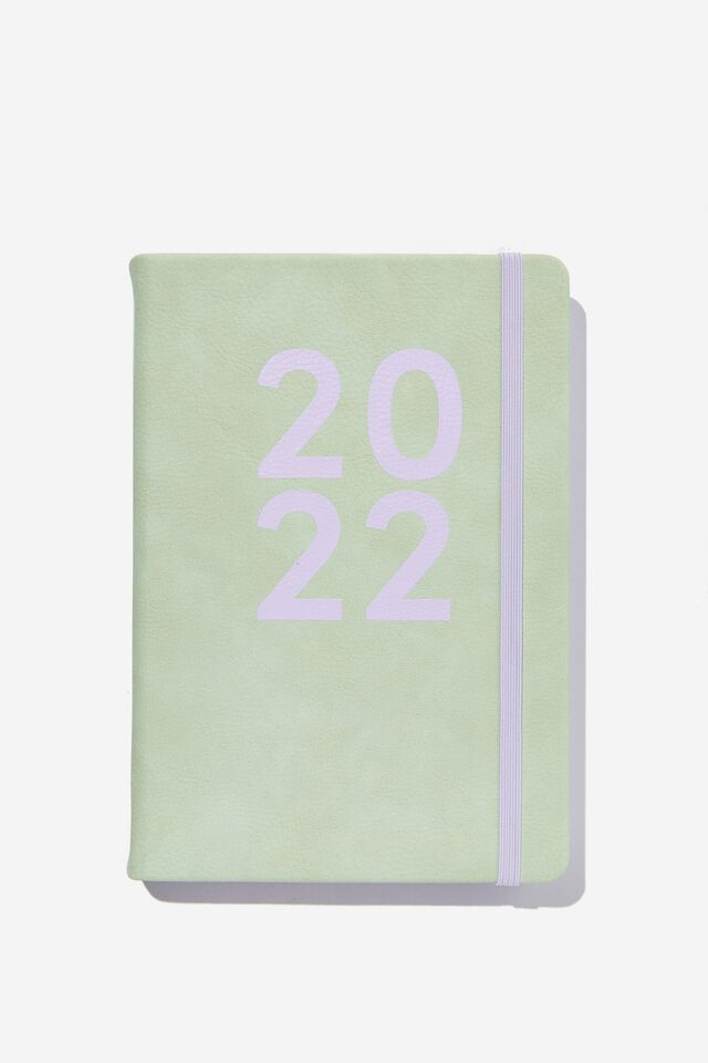 2022 A5 Daily Buffalo Diary, SPRING MINT