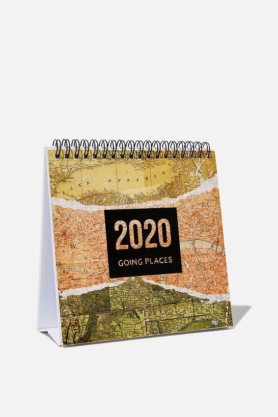 2020 Desk Calendar, MAP
