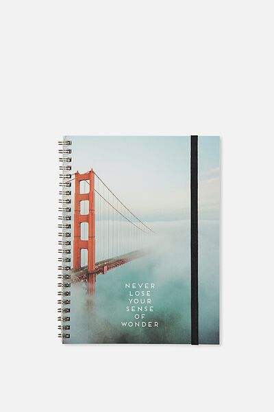 A5 Spinout Notebook - 120 Pages, GOLDEN GATE BRIDGE