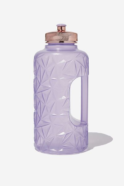 Faceted Drink Bottle, PURPLE