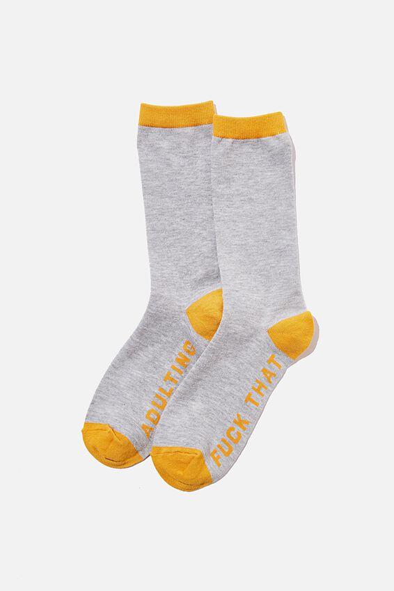 Socks, ADULTING F&* THAT