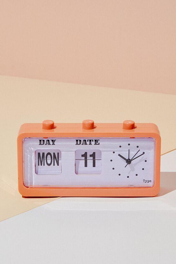 Retro Flip Clock, PEACH