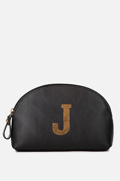 Alphabet Cosmetic Bag, J