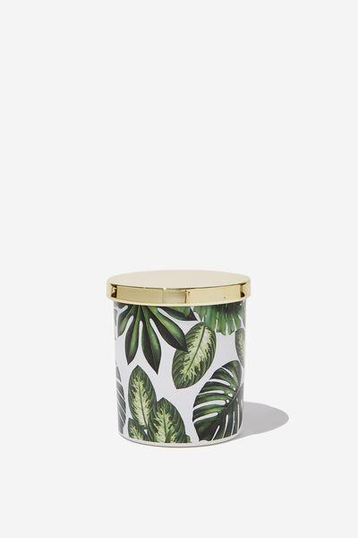Premium Candle, PALM PRINT