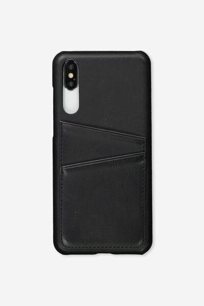 Cardholder Phone Case Huawei P20 Pro, BLACK