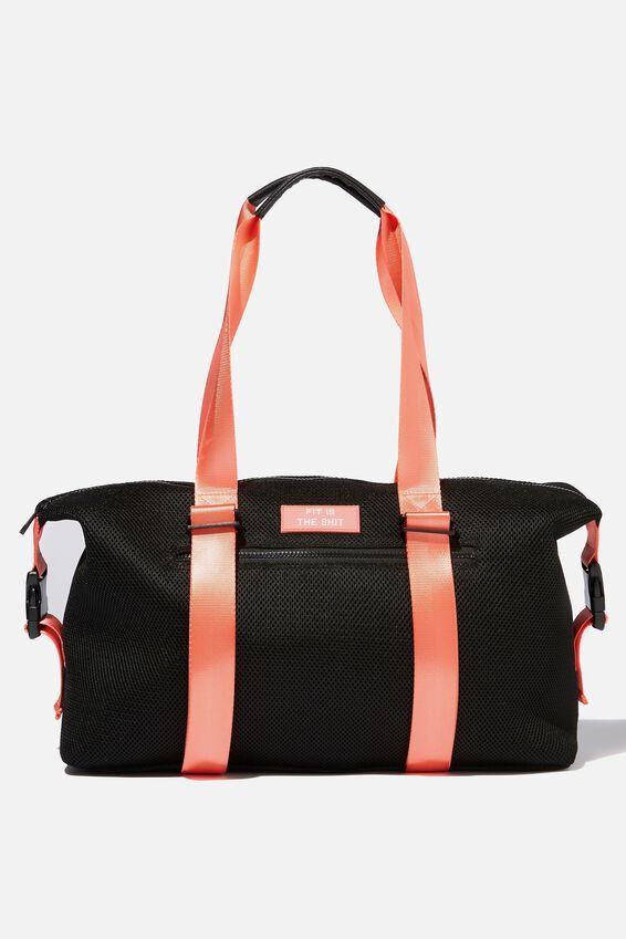 Active Duffle Bag, BLACK MESH
