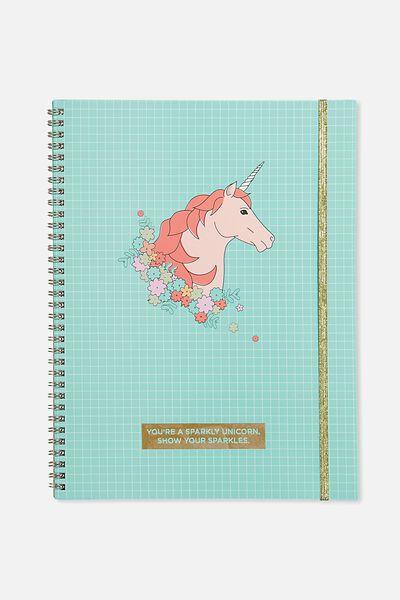 Large Spinout Notebook Usa 11X8, GRID UNICORN