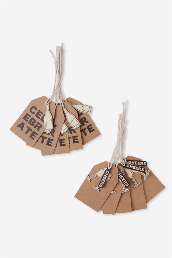 Gift Tags Set 10, CHEERS!