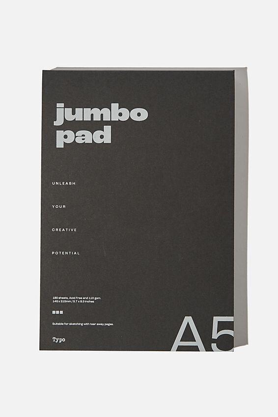 The Chunky A5 Art Pad, BLACK