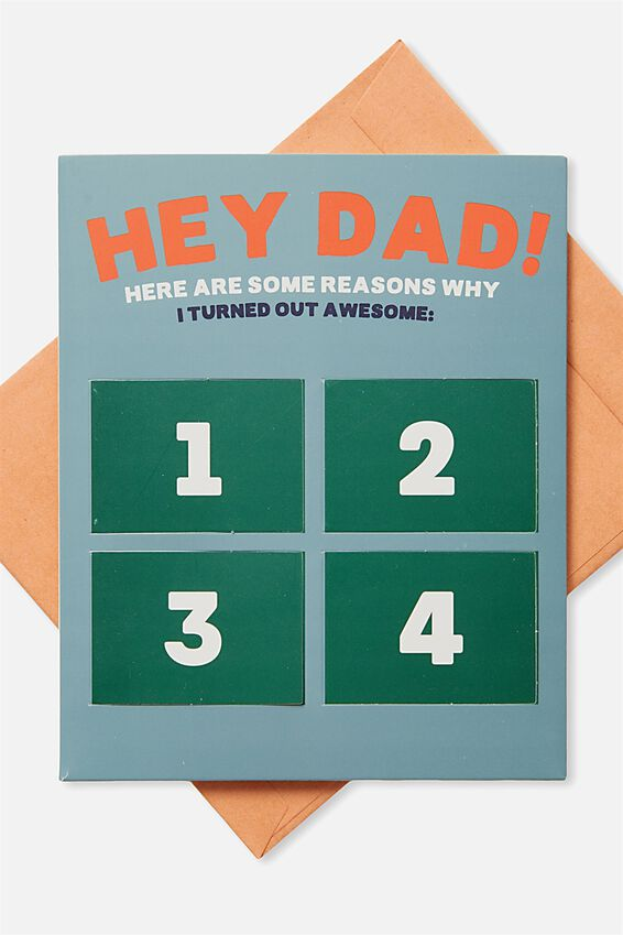 Fathers Day Card, DAD ADVENT