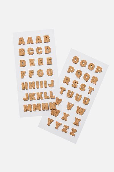 Alpha Sticker Pack, CORK