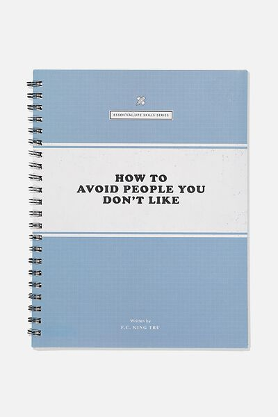 A4 Campus Notebook Recycled, AVOID PEOPLE
