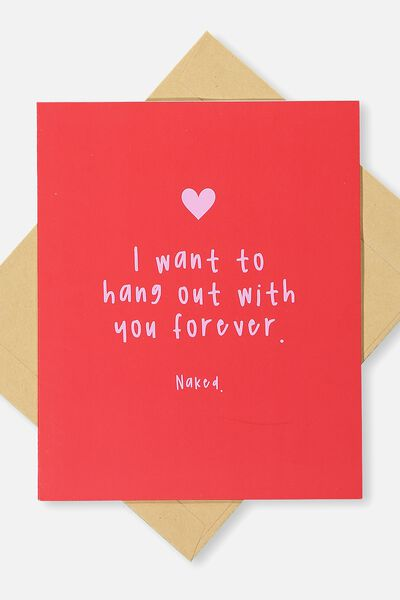 Love Card, HANG OUT FOREVER!