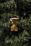 Resin Christmas Ornament, PARTY PUG 4.0